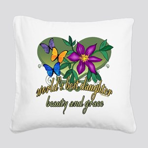Butterflydaughter Square Canvas Pillow