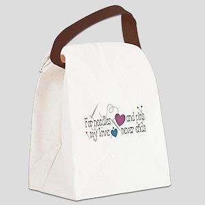 blackneedlespins Canvas Lunch Bag