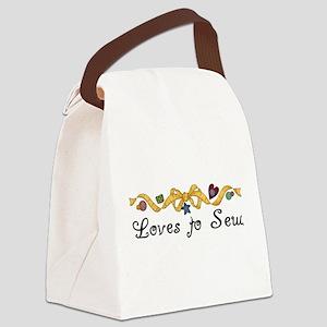 blacklovestosew Canvas Lunch Bag