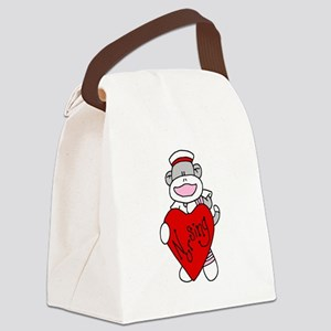sockmonkeylovenursing Canvas Lunch Bag