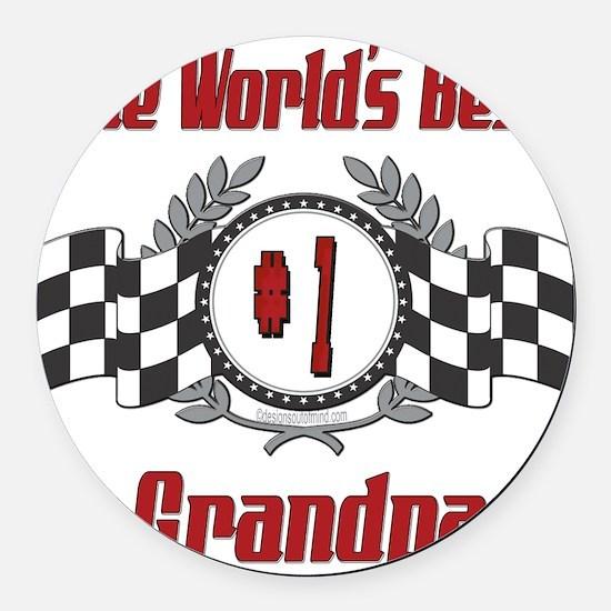 Racing1GRANDPA.png Round Car Magnet