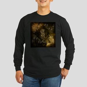 Wonderful golden chinese dragon Long Sleeve T-Shir