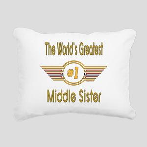 GREENMiddlesister Rectangular Canvas Pillow