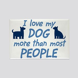 Love My Dog Rectangle Magnet