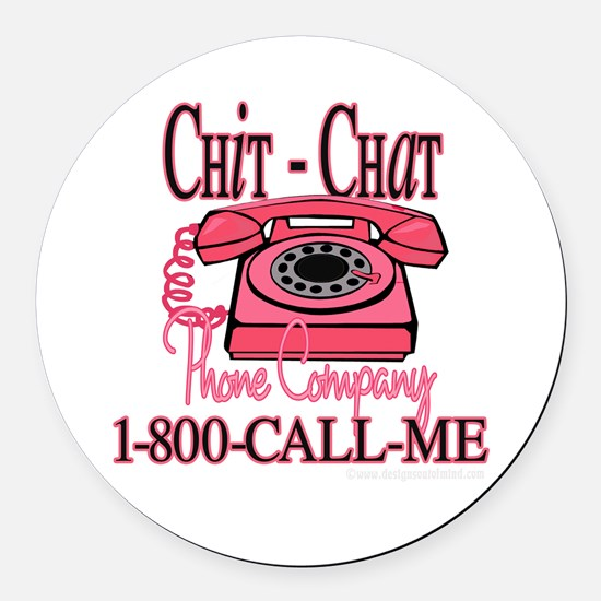 New chitchatphonecompany copy.jpg Round Car Magnet