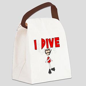 idivegirlsuit Canvas Lunch Bag