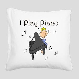 iplaypianogtee Square Canvas Pillow