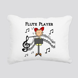 fluteplayertee Rectangular Canvas Pillow