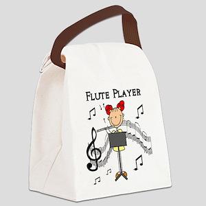 fluteplayertee Canvas Lunch Bag