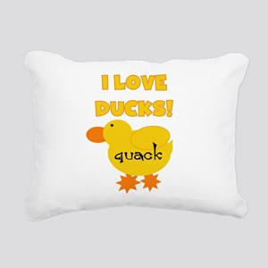 YELLOWLOVEDUCKS Rectangular Canvas Pillow