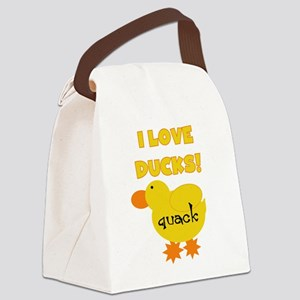 YELLOWLOVEDUCKS Canvas Lunch Bag
