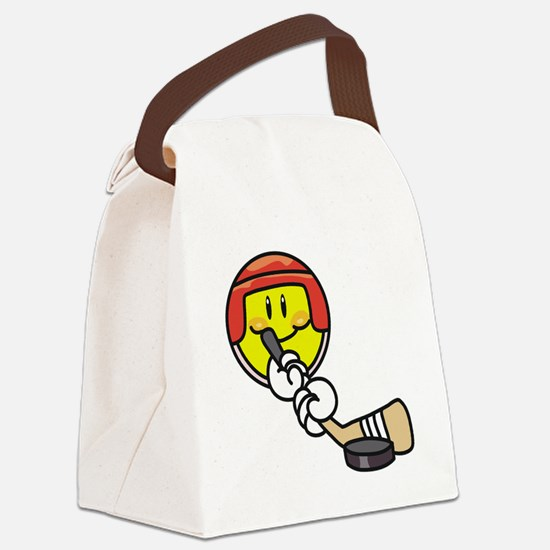 SMILEYHOCKEY.png Canvas Lunch Bag