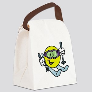 smileyskiing Canvas Lunch Bag