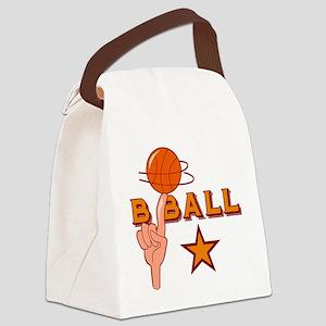 Basketball Star Canvas Lunch Bag