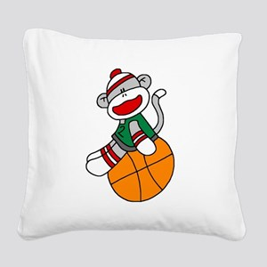 sockmonkeybasketball Square Canvas Pillow