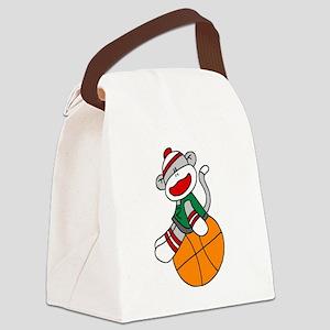 sockmonkeybasketball Canvas Lunch Bag