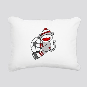 sockmonkeysoccertee Rectangular Canvas Pillow