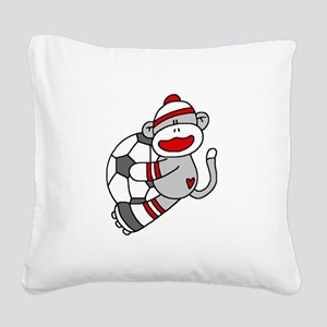 sockmonkeysoccertee Square Canvas Pillow