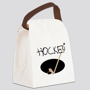 hockeystickimage Canvas Lunch Bag