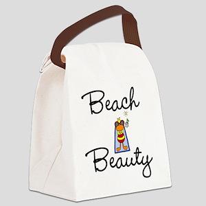 beachbeautyteetop Canvas Lunch Bag