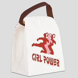 FunnyNewgirlpowerlarge copy Canvas Lunch Bag