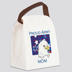 BLUEEAGLEARMYMOM Canvas Lunch Bag