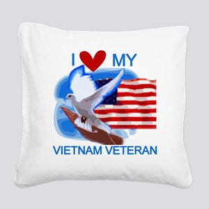 DOVEVIETNAMVET Square Canvas Pillow