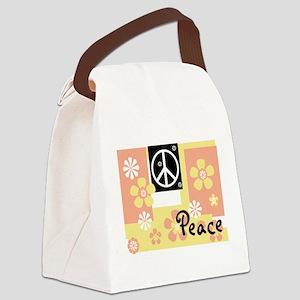 MELONYELLOWPEACETSHIRT Canvas Lunch Bag