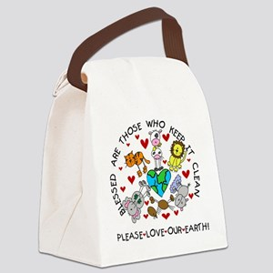 animalsearthday Canvas Lunch Bag