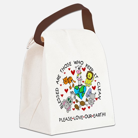 animalsearthday.png Canvas Lunch Bag