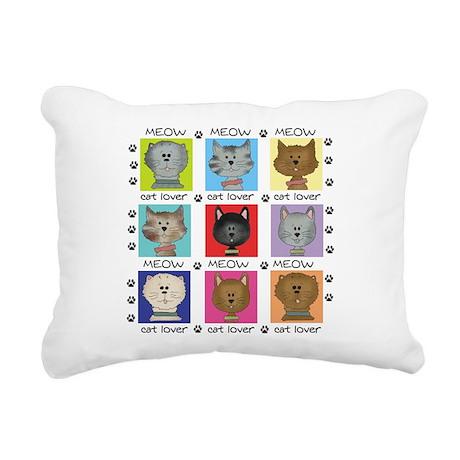 meowcatlover.png Rectangular Canvas Pillow