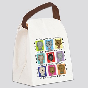meowcatlover Canvas Lunch Bag