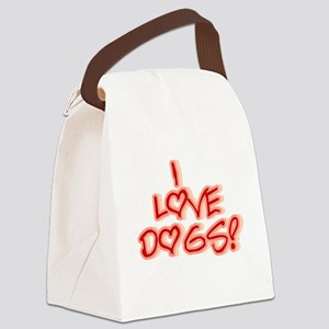 HEARTSILOVEDOGS Canvas Lunch Bag