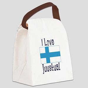 LOVEJUUSTUAFINNI2 Canvas Lunch Bag