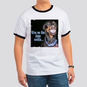 Doberman Pinscher Smiles Ringer T