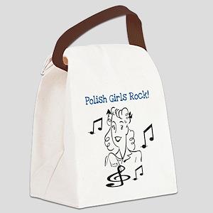 polishgirlsrock Canvas Lunch Bag