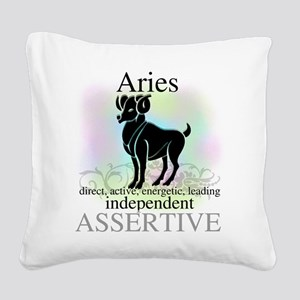 HOROSCOPEARIES Square Canvas Pillow