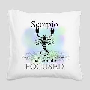 HOROSCOPESCORPIO Square Canvas Pillow