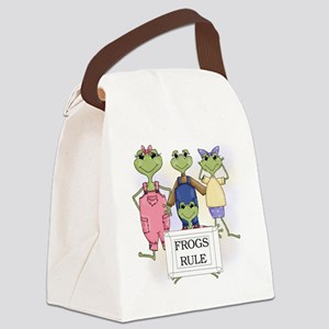 FROGSRULETEE Canvas Lunch Bag