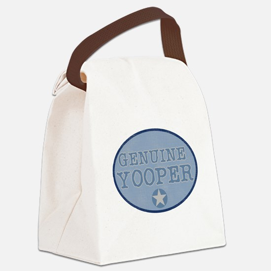 bluegenuineyoopers.png Canvas Lunch Bag