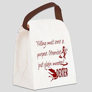DEXTER purpose red copy Canvas Lunch Bag