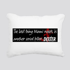 Dexter mug miami copy Rectangular Canvas Pillo