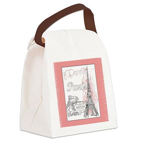 Blanket Pink Paris 3 Canvas Lunch Bag