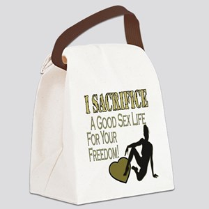 I SACRIFICE copy Canvas Lunch Bag