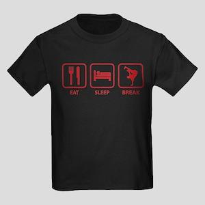 Eat Sleep Break Kids Dark T-Shirt