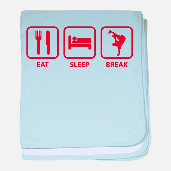 Eat Sleep Break baby blanket