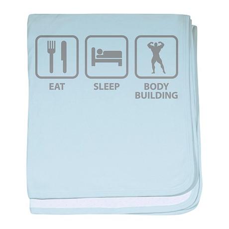 Eat Sleep Bodybuilding baby blanket