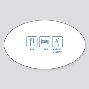 Eat Sleep Figure Skating Sticker (Oval)
