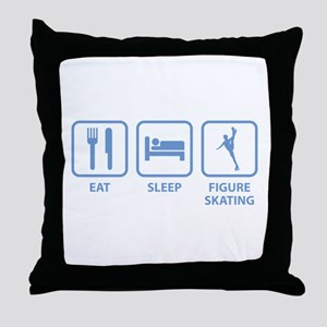 Eat Sleep Figure Skating Throw Pillow
