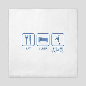 Eat Sleep Figure Skating Queen Duvet